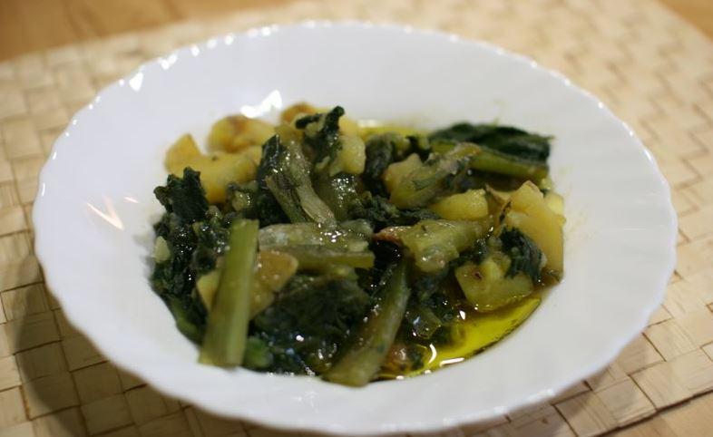 Borrajas con patatas plato tipico de aragon