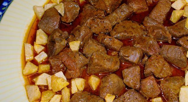 Carne de monte en adobo cocina de jaen