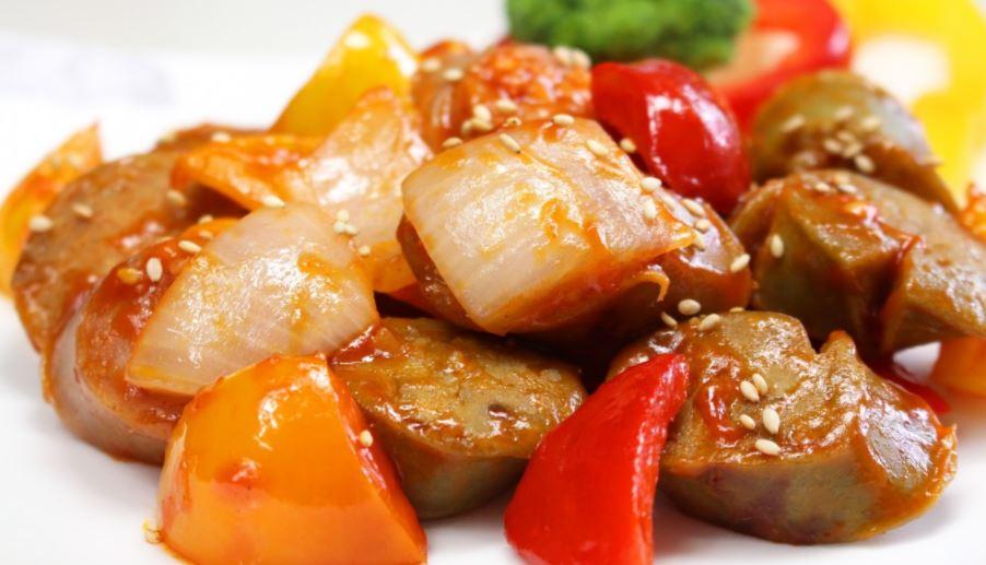 Cerdo agridulce gastronomía asiática