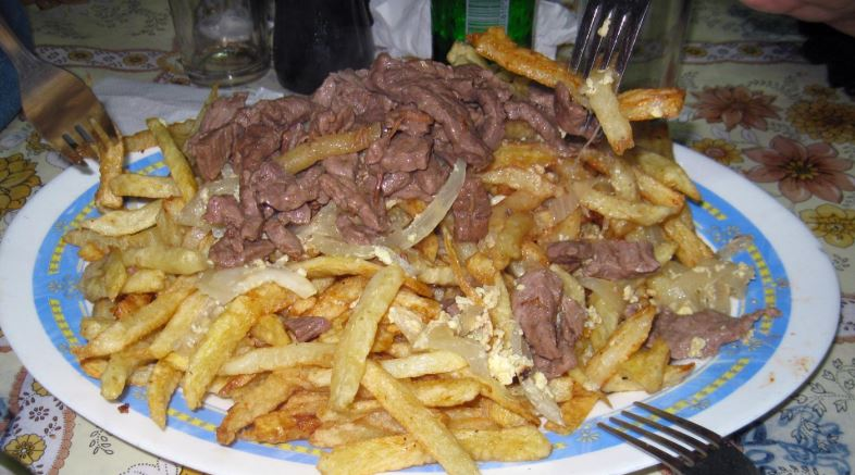 Chorrillana platos chilenos