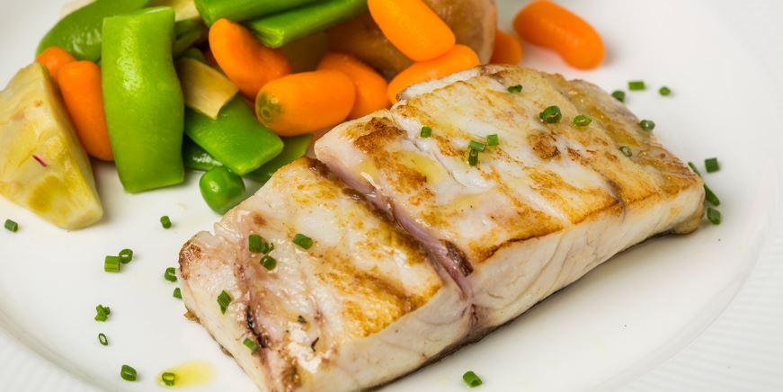 Corvina a la Plancha comida tipica de huelva