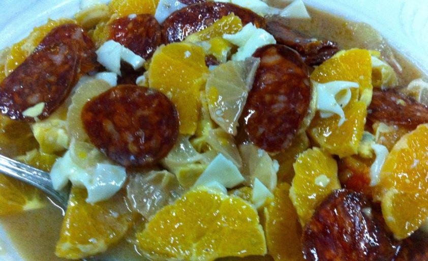 Ensalada de Limón de Las Hurdes gastronomia de extremadura
