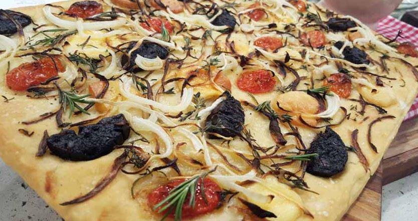Focaccia Genovesa platos tipicos italianos