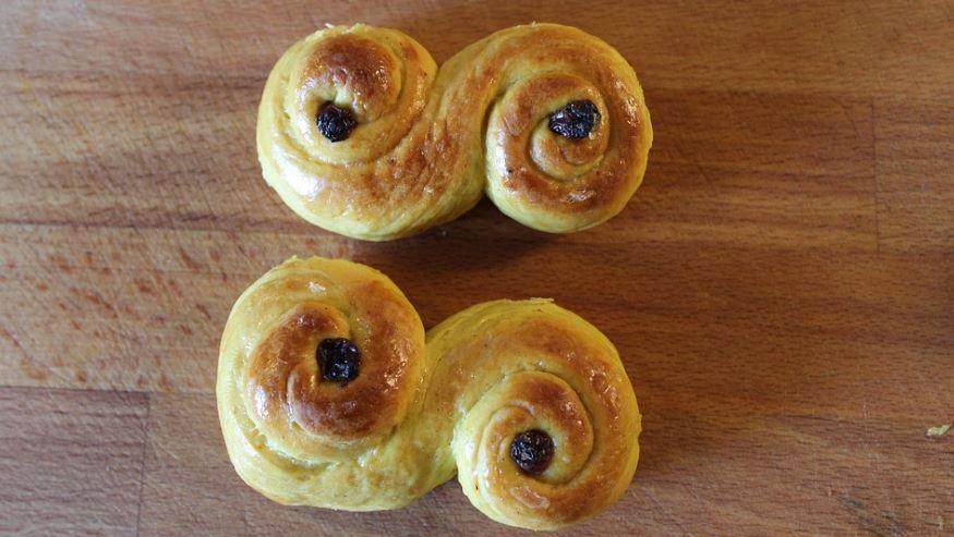 lussekatt dulces más típicos de Suecia