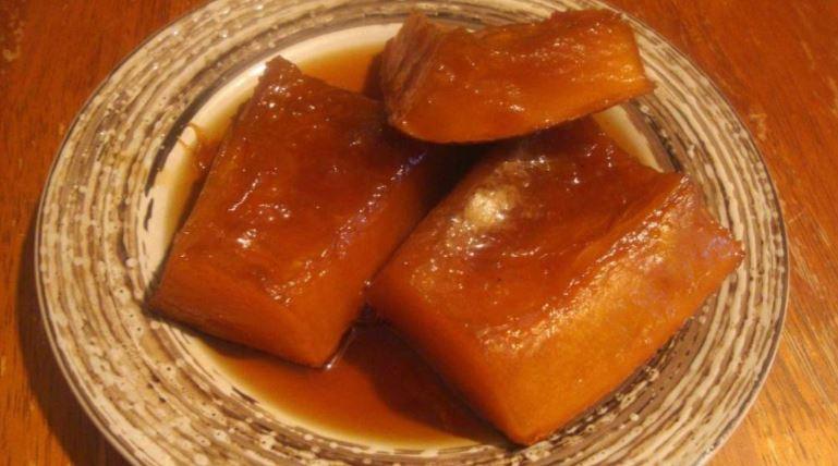 Ayote en miel dulces tipicos de honduras